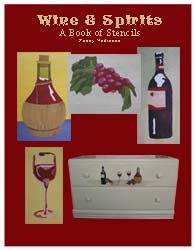 Wine and Grapes Stencil Book from www.all-about-stencils.com