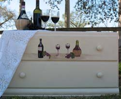 Wine and Spirits Stenciled Dresser from www.all-about-stencils.com