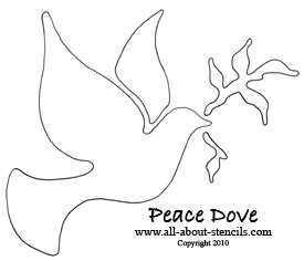 Peace Dove Stencil from www.all-about-stencils.com