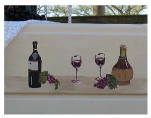 Closeup of Wine and Spirits Stencils from www.all-about-stencils.com