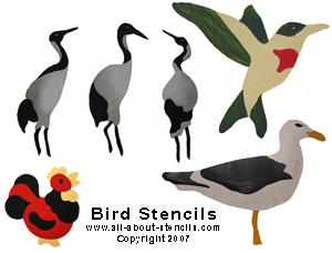Bird Stencils from www.all-about-stencils.com