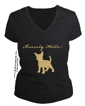 Chihuahua Stenciled T Shirt from www.all-about-stencils.com