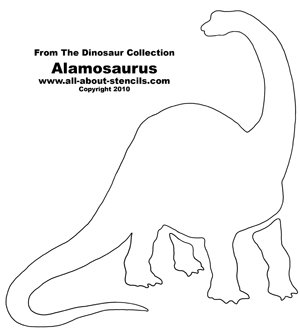 Dinosaur Alamosaurus Stencil from www.all-about-stencils.com