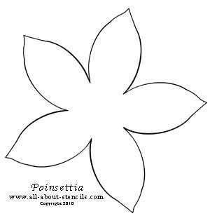 Poinsettia Stencil from www.all-about-stencils.com