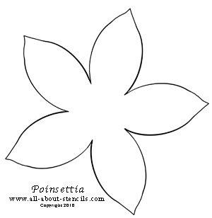 Poinsettia Stencil from all-about-stencils.com