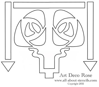 Art Deco Rose Stencil from All-About-Stencils.com