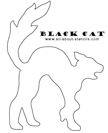 Black Cat Stencil from www.all-about-stencils.com