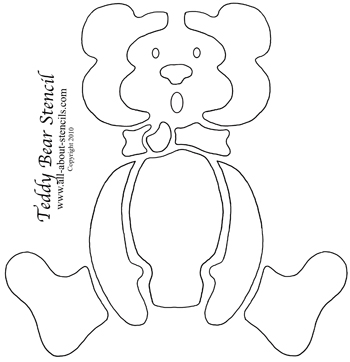 Teddy Bear Stencil from www.all-about-stencils.com