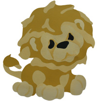 Bad Lion from www.all-about-stencils.com