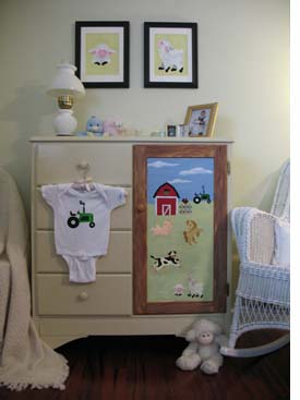 Stenciled Armoire from www.all-about-stencils.com