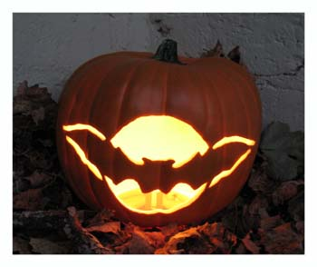 Carved Bat Pumpkin from www.all-about-stencils.com