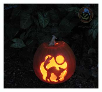 Carved Pumpkin with Cat in Moonlight Stencil from www.all-about-stencils.com