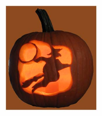 Witch Carved Pumpkin from www.all-about-stencils.com