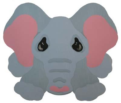 Elephant Baby Stencil