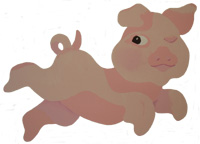 Piggy Stencil from www.all-about-stencils.com