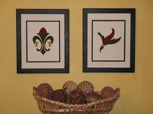 Fleur de lis Stencil Framed Prints from www.all-about-stencils.com