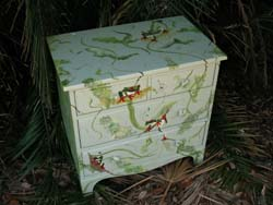 Stenciled Frog Dresser Project from www.all-about-stencils.com