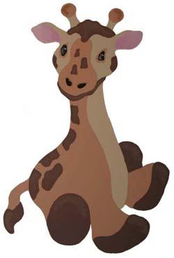 Giraffe Baby Stencil
