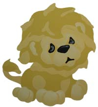 Lion Stencil from www.all-about-stencils.com