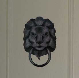 Lion Head Door Knocker Stencils from www.all-about-stencils.com
