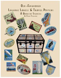 Old Fashioned Luggage Labels Stencil Book from www.all-about-stencils.com