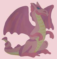 Pink Dragon Stencil from www.all-about-stencils.com