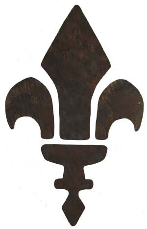 Rustic Fleur de lis Stencil From www.all-about-stencils.com