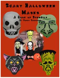 Scary Halloween Masks Stencil Book from www.all-about-stencils.com