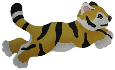 Baby Tiger Stencil from www.all-about-stencils.com