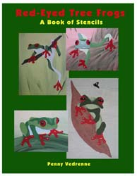 Tree Frog Stencil Book from www.all-about-stencils.com