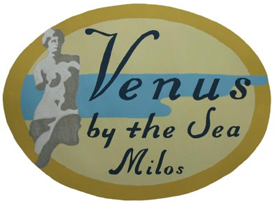 Venus by the Sea Luggage Label Stencil from www.all-about-stencils.com