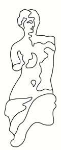 Venus de Milo Sketch for Stencil from all-about-stencils.com