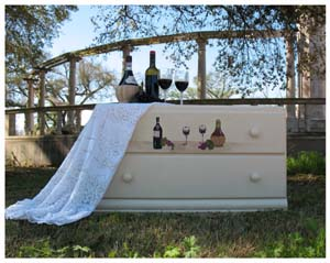 Stenciled Wine Dresser from www.all-about-stencils.com