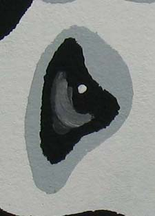 Zebra Baby Stencil Eye