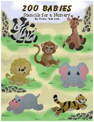 Zoo Babies Stencil Book from www.all-about-stencils.com
