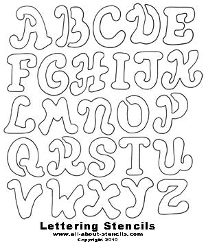 Alphabet Stencils from All-About-Stencils.com