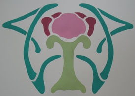 Art Nouveau Painting from www.all-about-stencils.com