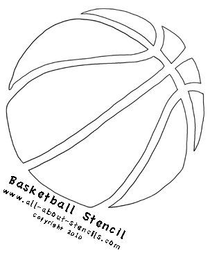 Basketball Stencil from all-about-stencils.com
