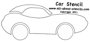 Car Stencil from www.all-about-stencils.com