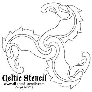 Celtic Stencil from all-about-stencils.com