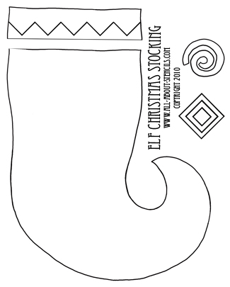 Printable Stocking Pattern | New Calendar Template Site