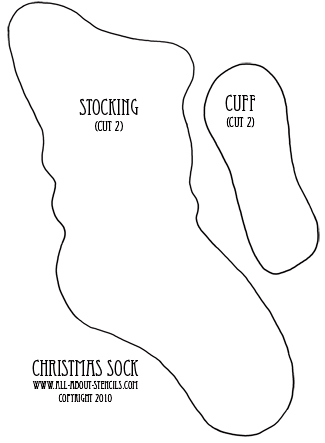 big christmas stockings pattern dog