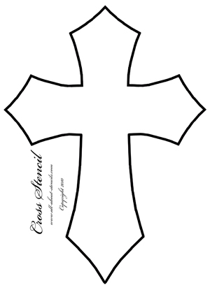 Clean image with regard to free printable cross stencils