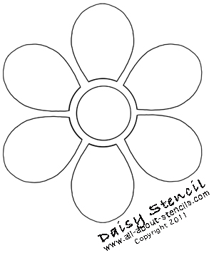 A simple daisy stencil is essential to any funky and for Daisy cut out template