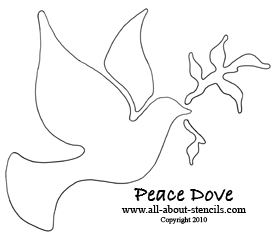 Christmas Peace Dove Stencil from www.all-about-stencils.com