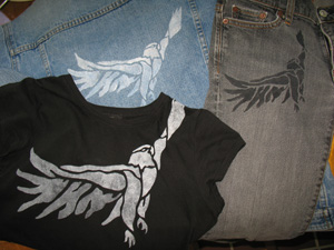 Eagle Stenciled Clothes from www.all-about-stencils.com