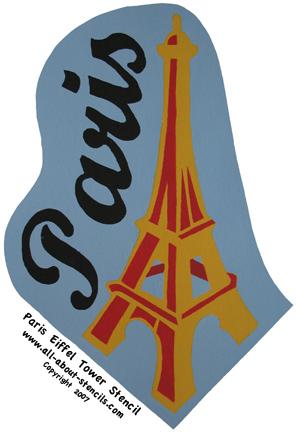 Eiffel Tower Stencil from www.all-about-stencils.com