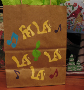 Stenciled Gift Bag from www.all-about-stencils.com