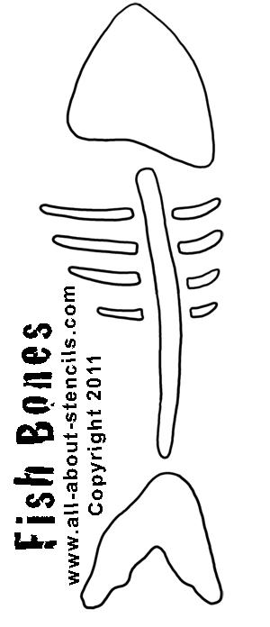 Fish Bones Stencil from www.all-about-stencils.com