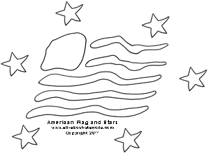 Flag and Stars Stencil from www.all-about-stencils.com